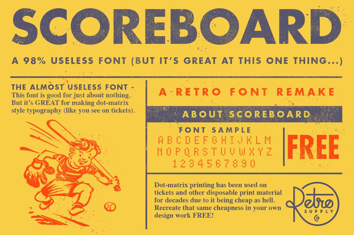 scoreboard font co scoreboard