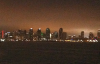 The San Diego skyline as seen from the boat.
