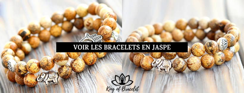 Bracelet Jaspe Marron - King of Bracelet