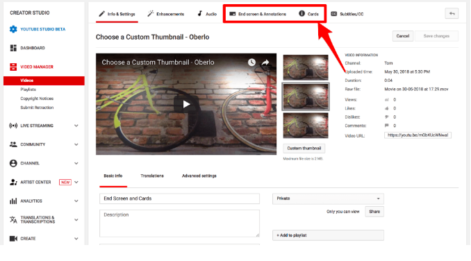 YouTube End-Screen