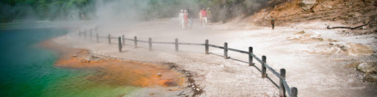 3. Экскурсия в геотермальный парк Вай о Тапу. Роторуа.