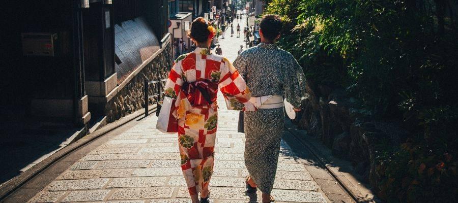 couple Wearing Yukata Kimono