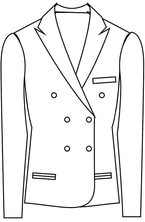 TailorMate   dobbeltradet med seks knapper