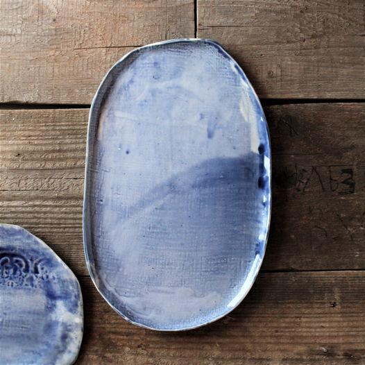 Фарфоровое блюдо в синем