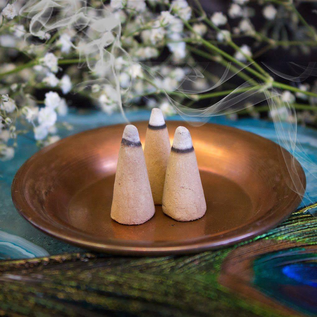 incense cones burning