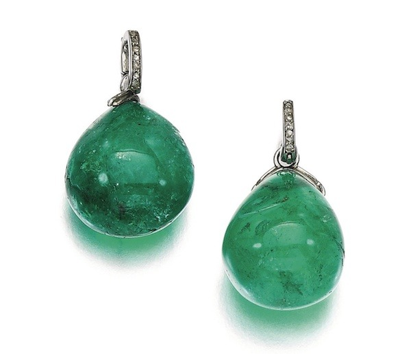 Sotheby's Emeral Earrings, March 2017 auction