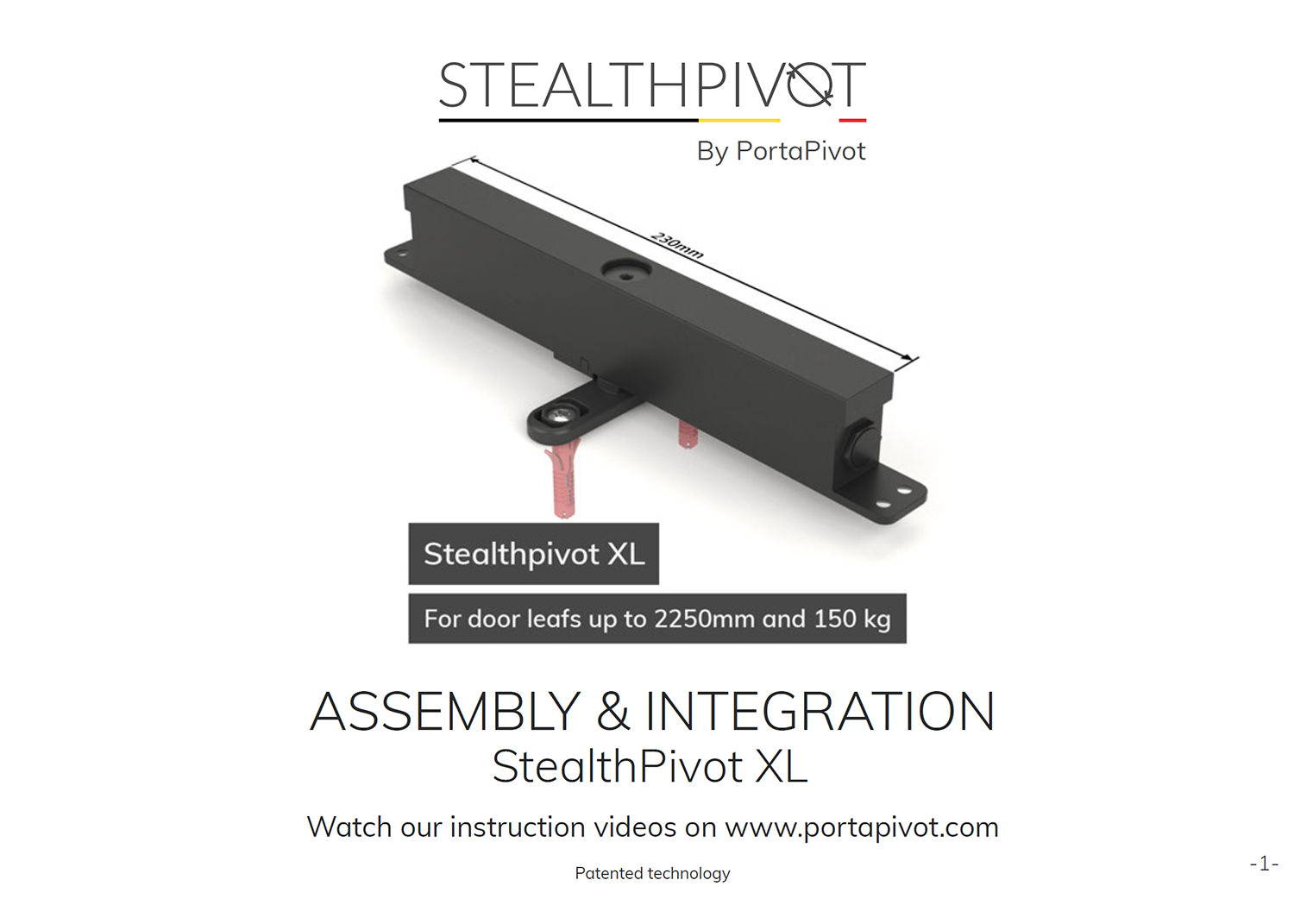 Stealth Pivot XL assembly and installation manual