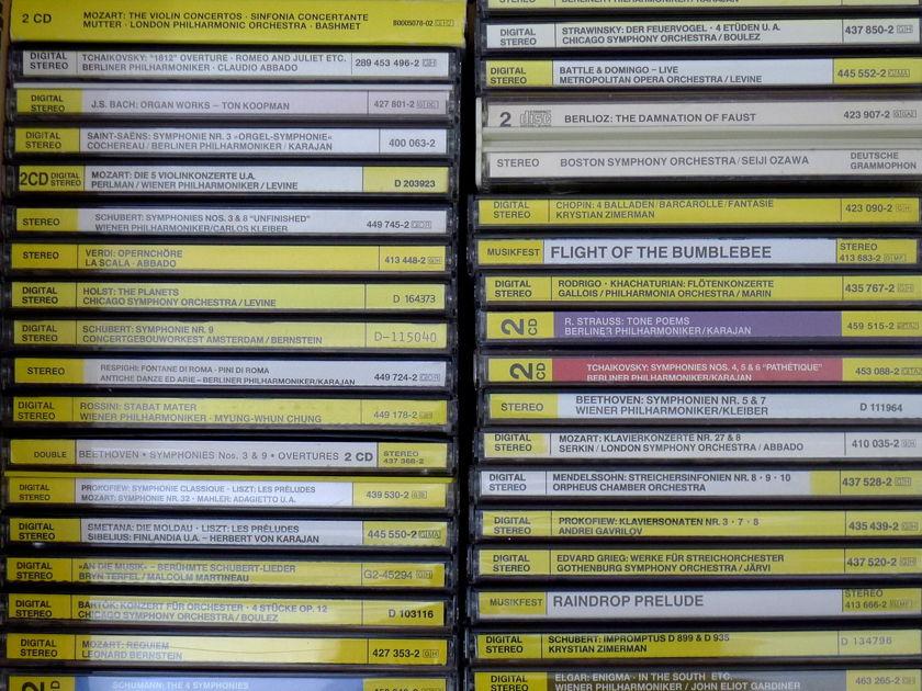 Classical CDs All Deutsche Grammophon CDs, 50 CDs, All M/NM