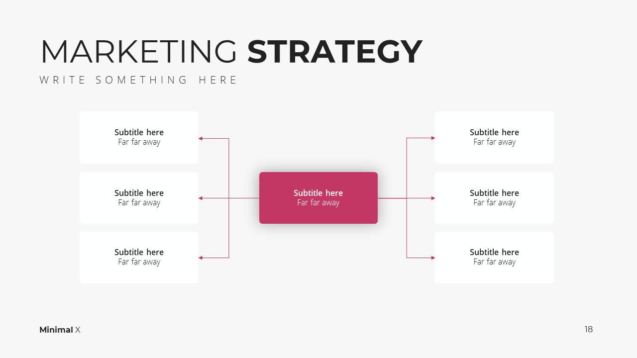 Minimal X Digital Marketing Proposal Presentation Template Market Strategy