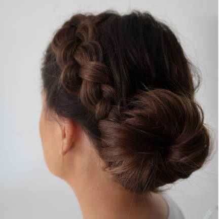 low bun Davines tutorial step 4