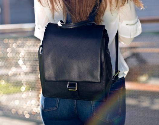 Рюкзак кожаный  KATINA Black