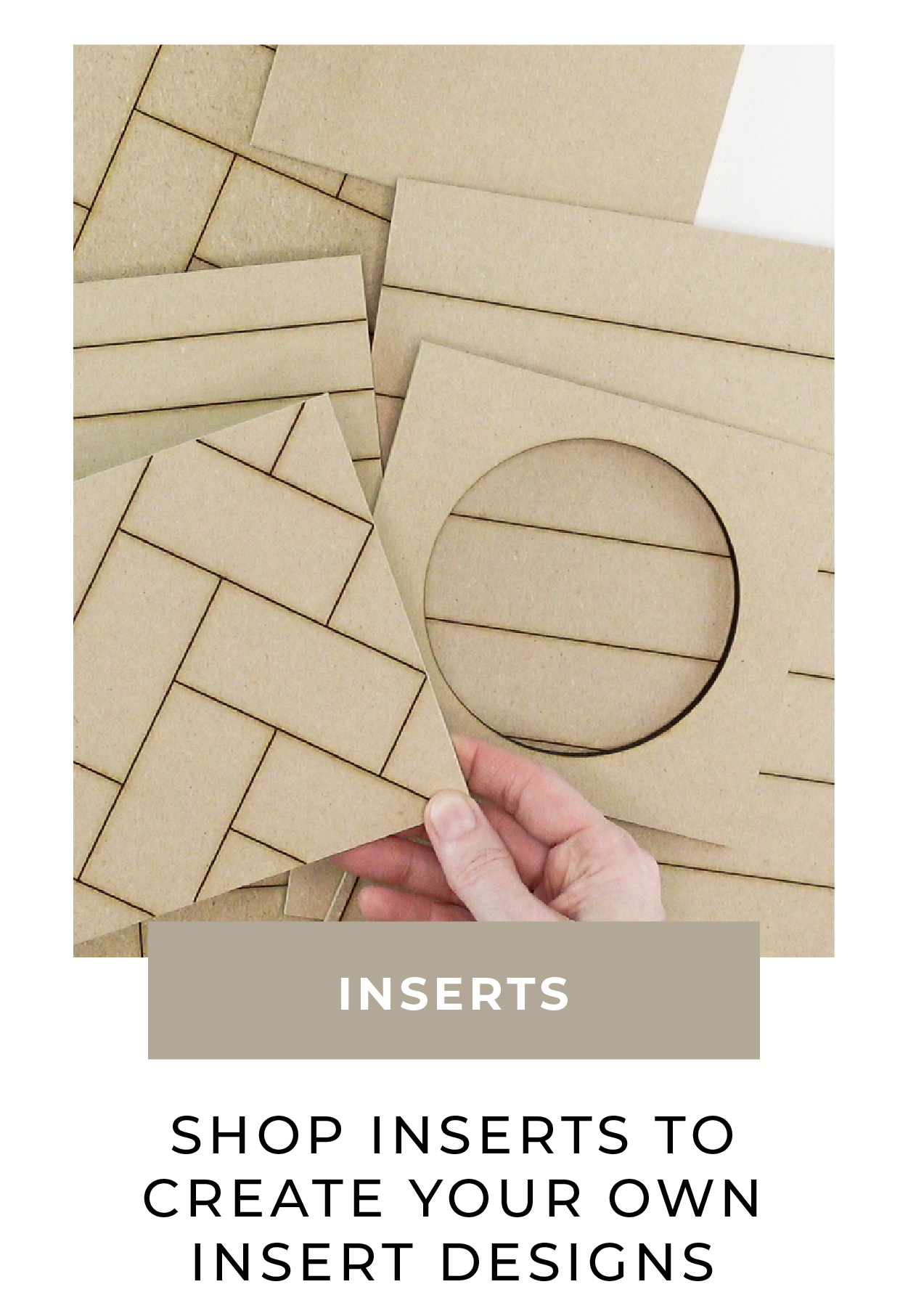 Shop inserts to create your own insert designs