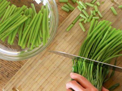 Soak vegetables