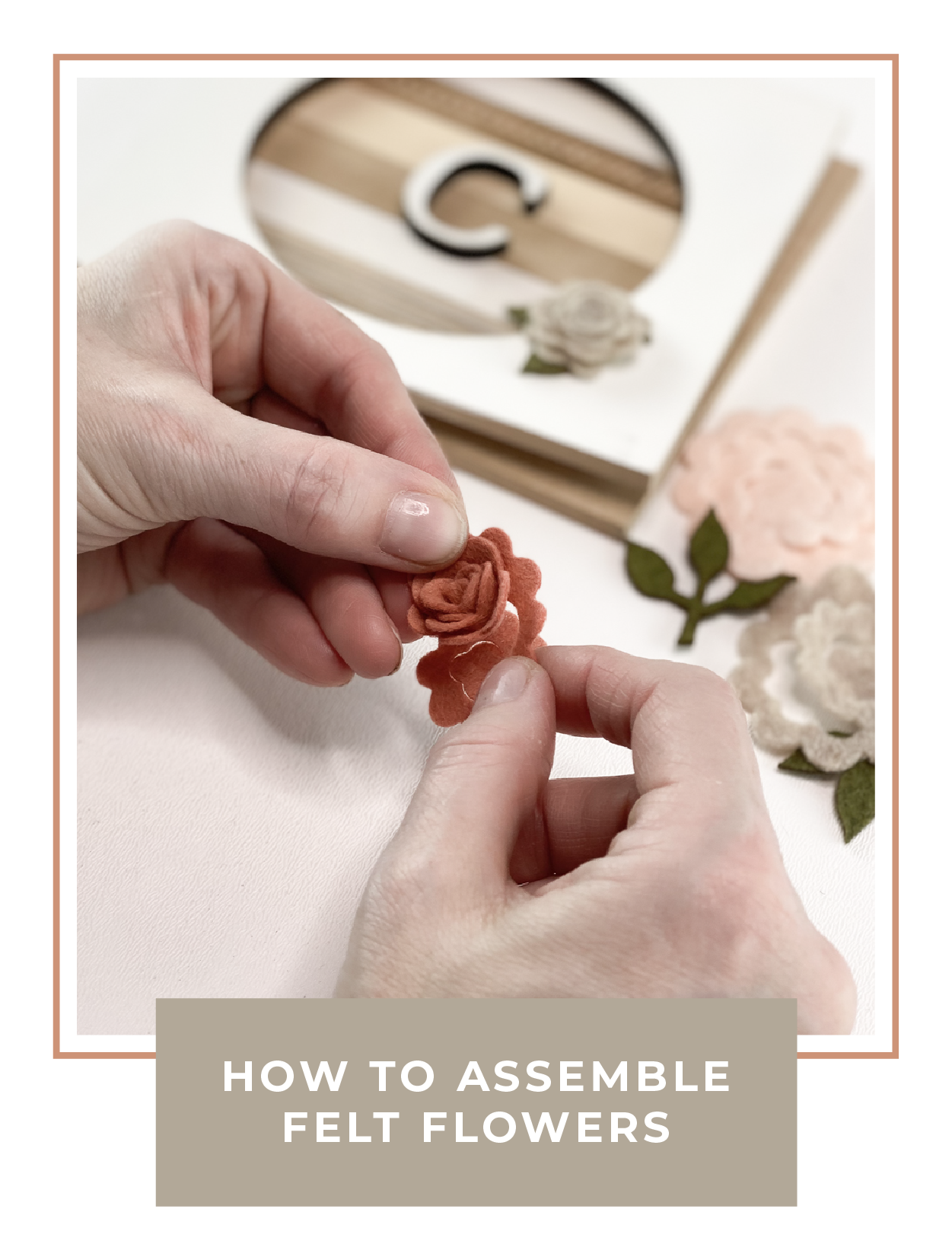 How to assemble felt flowers
