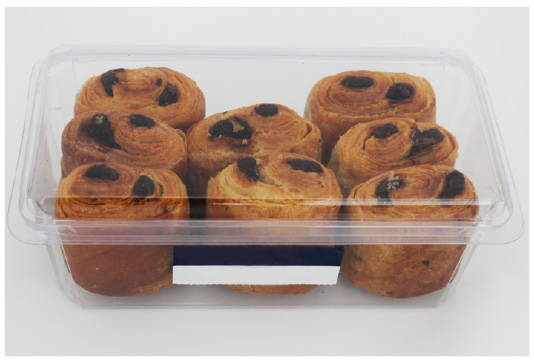 box of croissants after makeover to eco friendly packaging for baked goods, canada