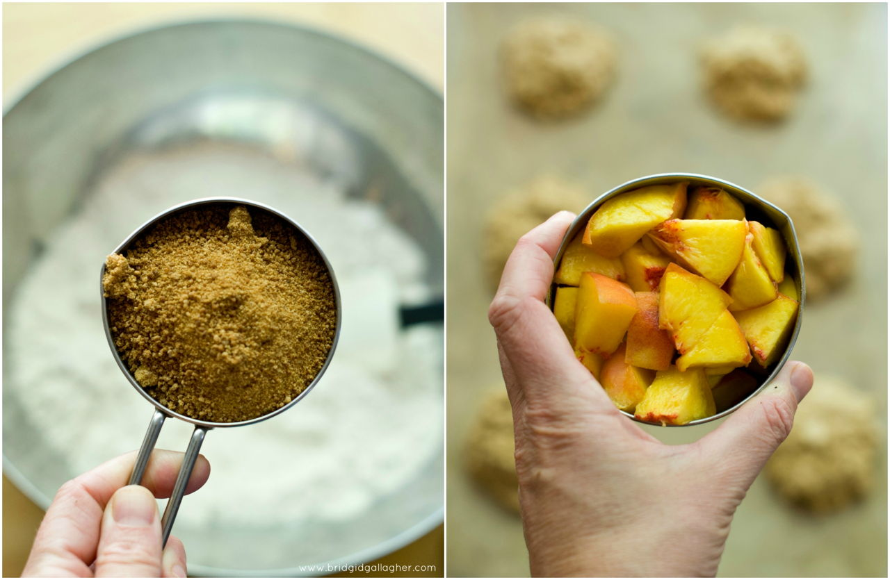 Peach-ginger oat scones {vegan, gluten-free} // www.brigidgallagher.com // #bridgideats