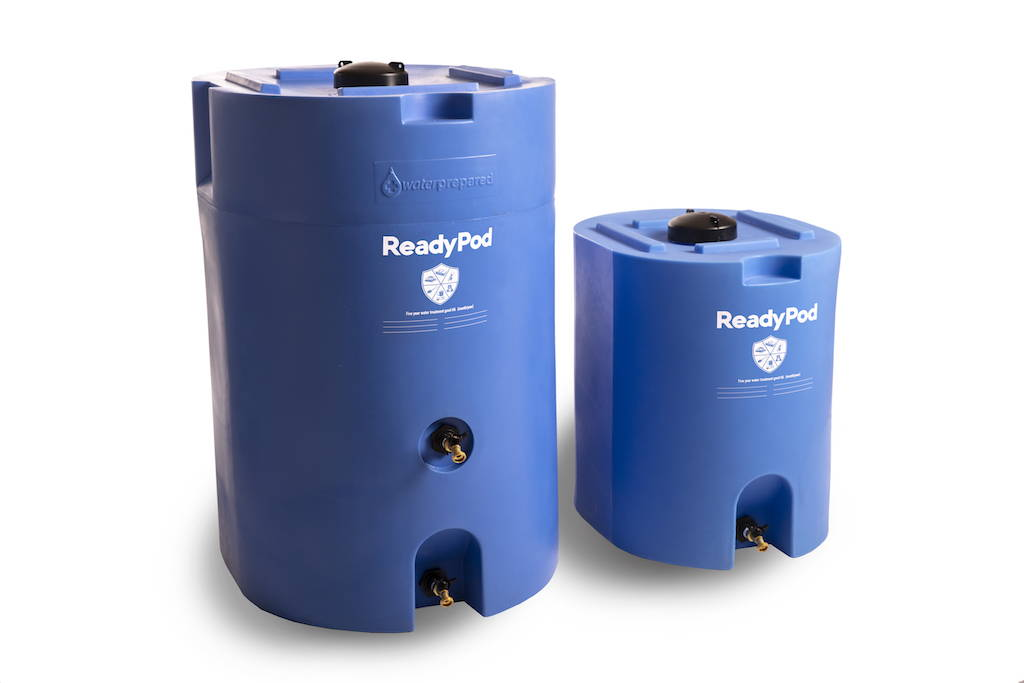 ReadyPod™ shelter-in-place kits feature WaterPrepared barrels, superior in every way to standard 55 gallon barrels