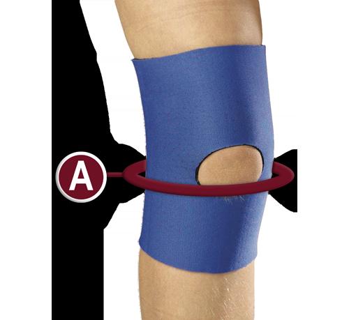 KidsLine Knee Sleeve Measuring Location