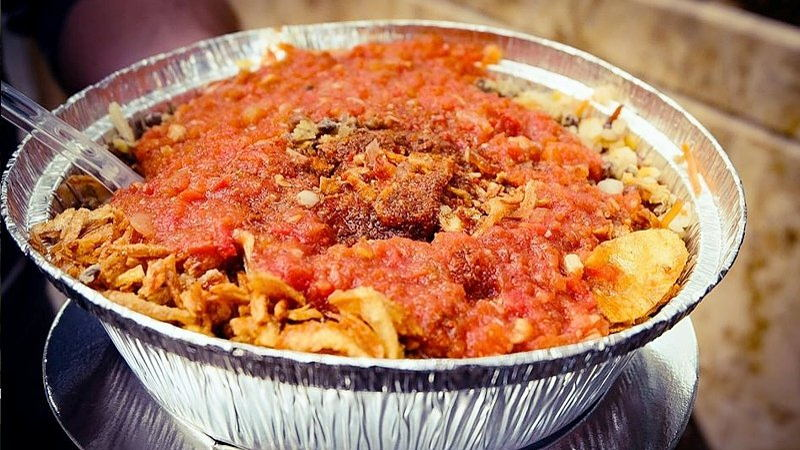 Traditional Egyptian kushari dish