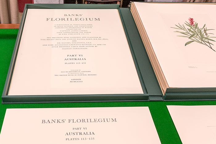 Banks Florilegium prints in original Solander box