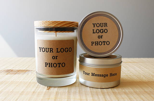 """Your Logo or Photo"" on jar and tin"