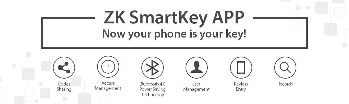 keyless door lock has a smartkey app