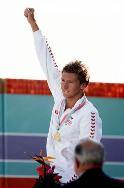 Alex Baumann at the 1984 LA Olympics