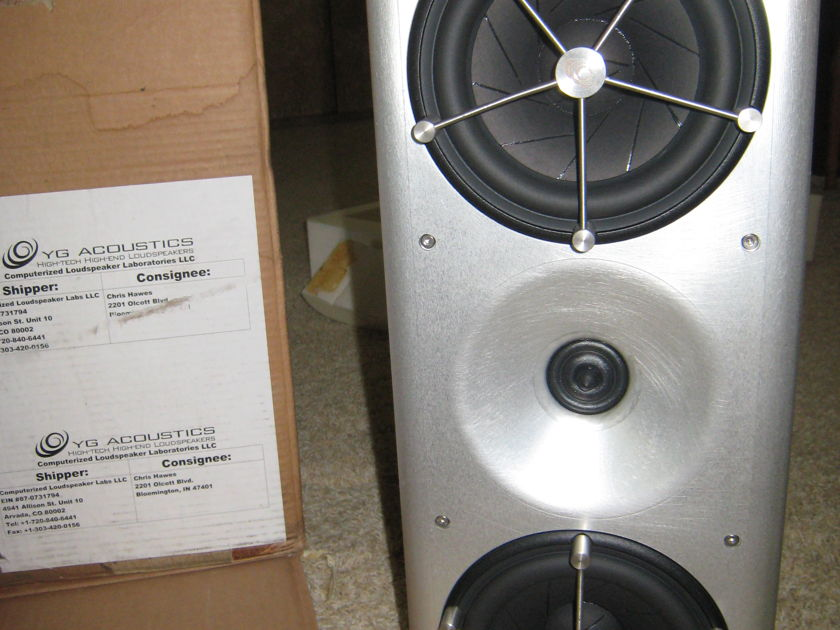 YG Acoustics Anat Reference Professional Top of line, 840lb system, dual amplified subwoofers
