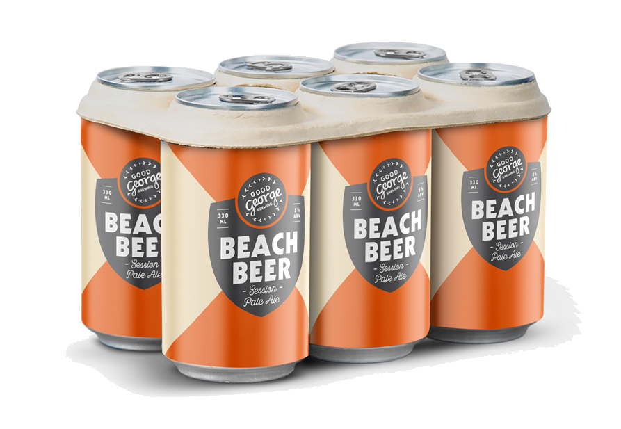 Good George Beach Beer Six Pack Cans
