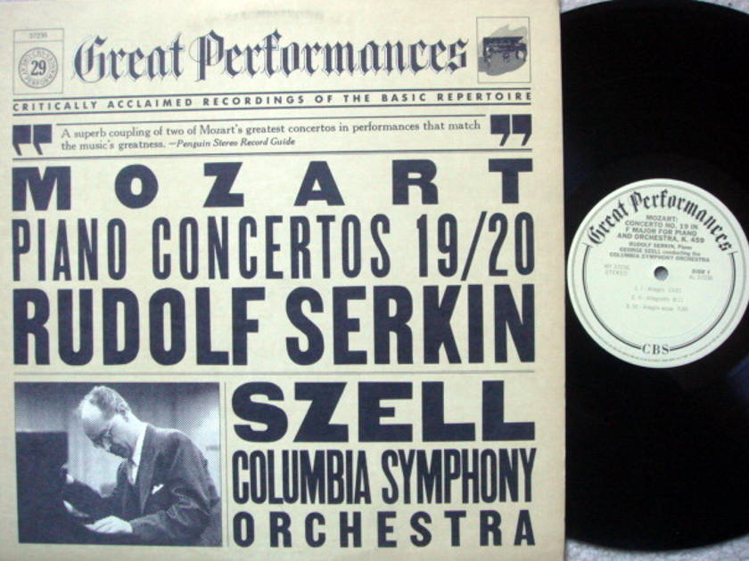 CBS / SERKIN-SZELL, - Moazrt Piano Concertos No.19 & 20,  MINT!