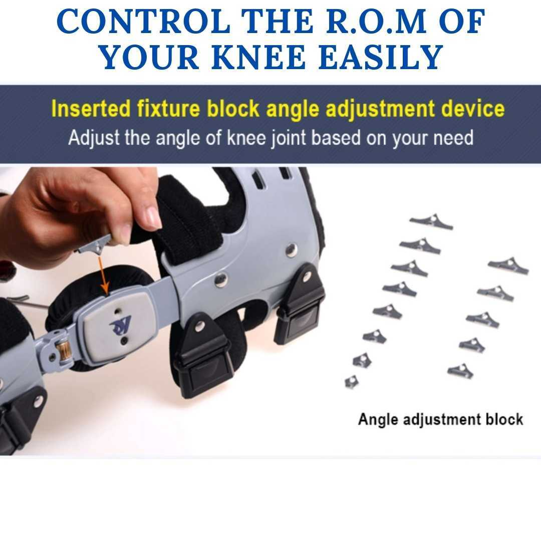 comfyorthopedic oa unlaoder knee brace with range of motion angle adjustment blocks