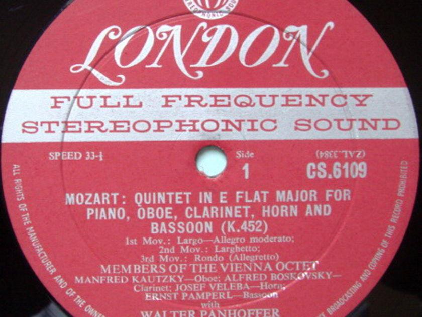 ★1st Press★ LONDON-DECCA FFSS-WB-BB / VIENNA OCTET, - Mozart Quintet & Trio, VG+!