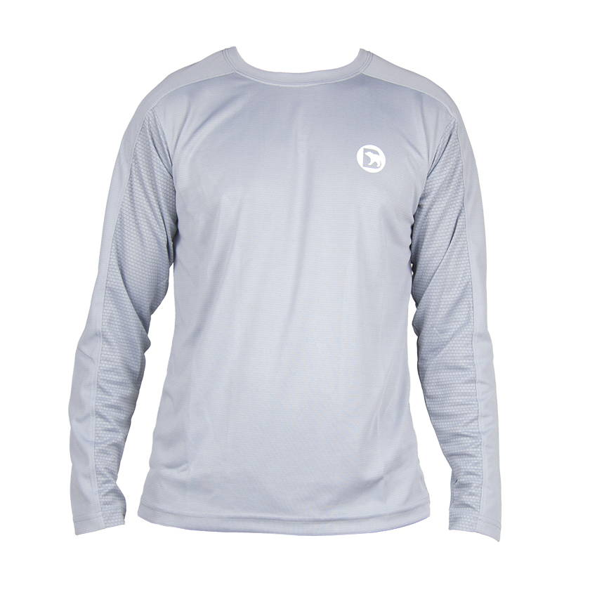 Bearbottom Black Flexbloc Long Sleeve Shirt. Stretch fabric with cooling structure. Designed to keep you cool and dry. A perfect solution for your active needs