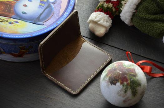 Холдер для пластиковых карт Fir, натуральная кожа коньячного цвета Италия