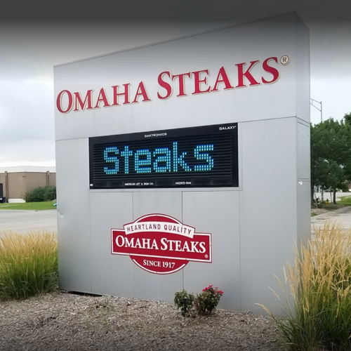 Picture of Omaha Steaks started a call-ahead ordering service at its retail stores