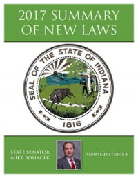 2017 Summary of New Laws - Sen. Bohacek