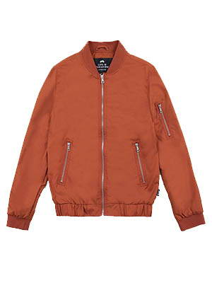 Life in Paradigm Orange Bomber Jacket