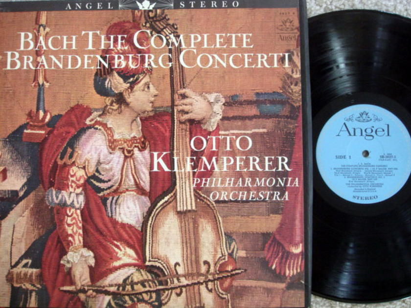 EMI Angel Blue / KLEMPERER, - Bach Brandenburg Concertos, MINT, 2LP Box Set!