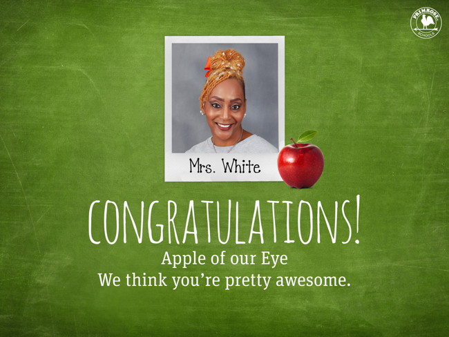 Apple of our Eye Teacher of the Month