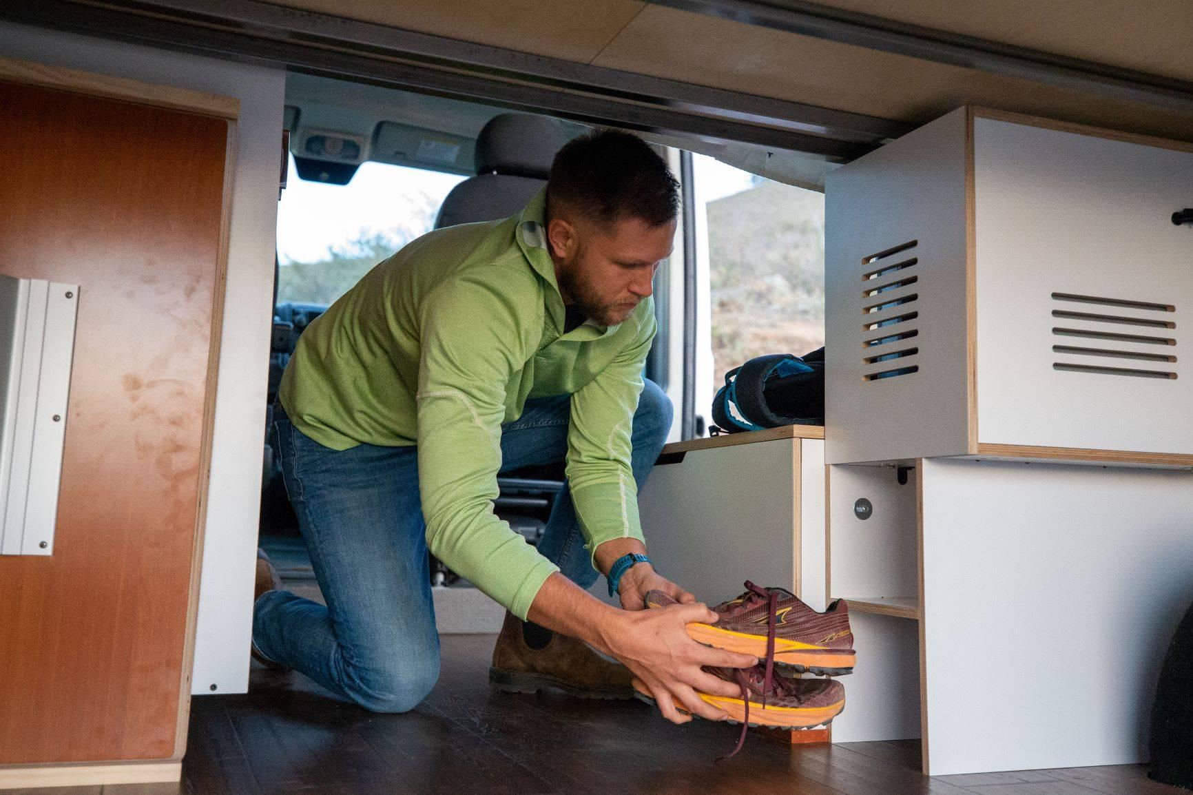The Bivy - Sprinter 144 / ProMaster 136 Conversion Van Storage Cubbies - The Vansmith