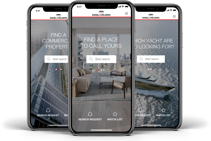Immobiliensuche App Engel & Völkers