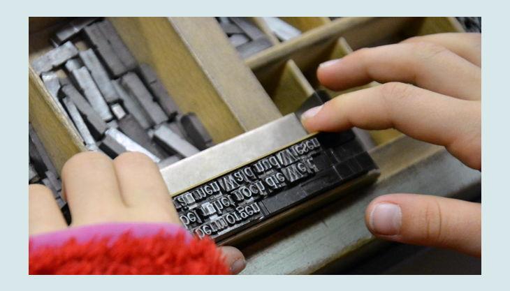 stiftung werkstattmuseum für druckkunst leipzig buchstaben legen