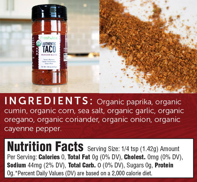 FreshJax Premium Spices Taco Seasoning Blend