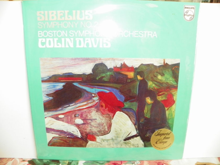 COLIN DAVIS/BOSTON SYM.ORCH. - SIBELIUS SYMPHONY #2 EUROPE IMPORT Pressing is NM/New Price Reduction