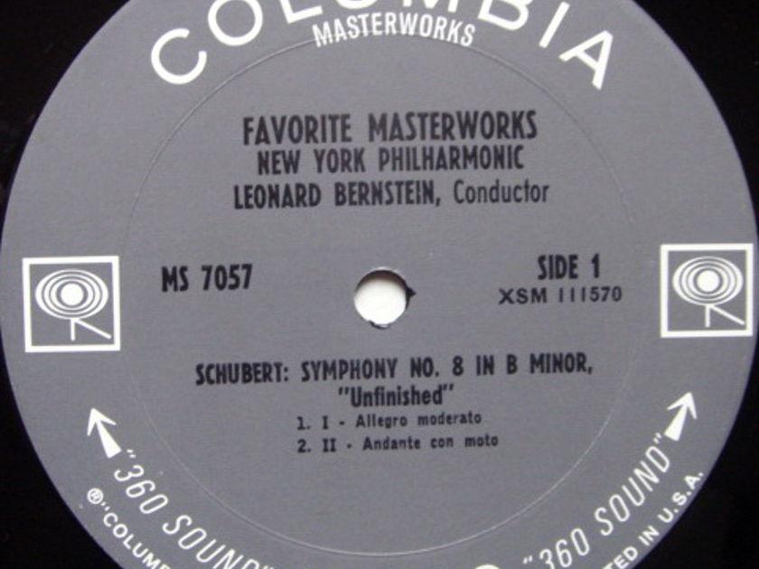 Columbia 2-EYE / LEONARD BERNSTEIN, - Schubert Unfinished, Mendelssohn Italian Symphonies, MINT!