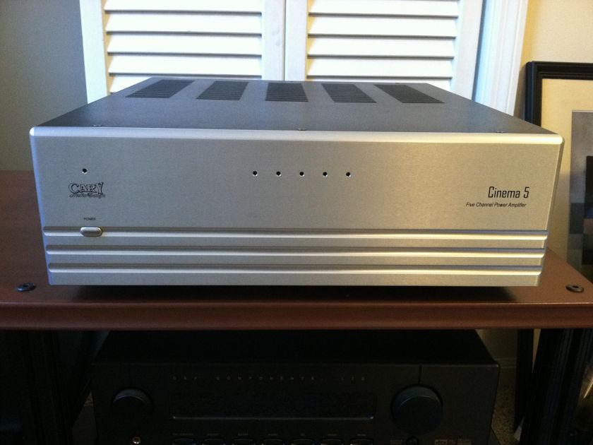 Cary Audio Cinema 5 Silver 5x200 watt multi-channel amp