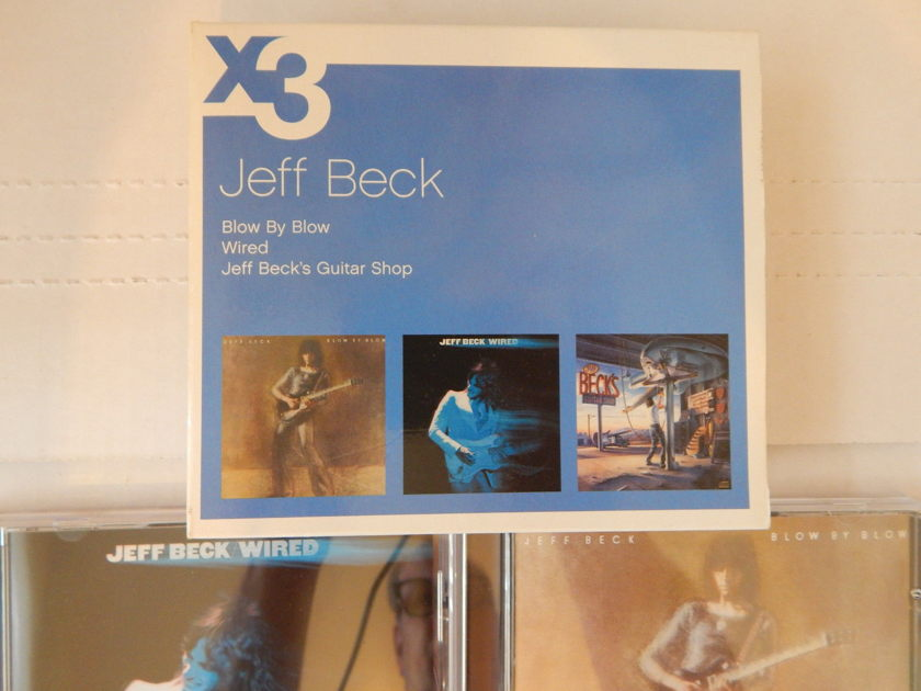 JEFF BECK X3 / 3 CD BOX SET Blow by Blow Wired   - Jeff Beck's Guitar Shop Europe Import  Compilation Rare 3 CD SET