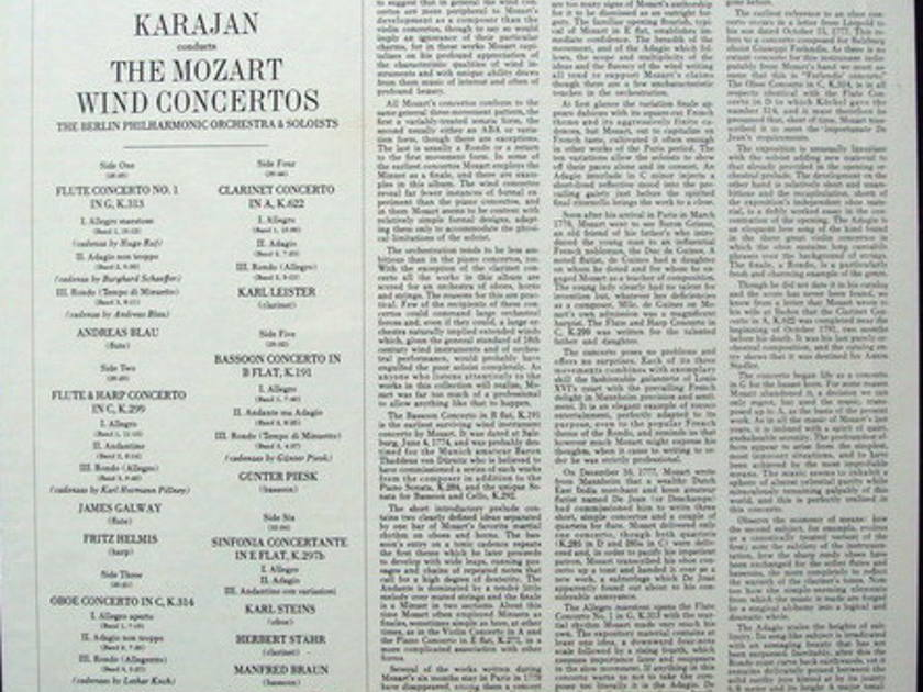 ★Sealed★ EMI Angel / KARAJAN, - Mozart Concertos (Bassoon, Flute, Clarinet, Oboe, Harp & Horn), 3LP Box Set!