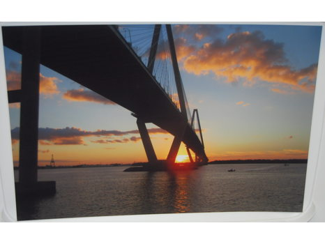 Arthur Ravenel Jr. Bridge at Sunset Photograph