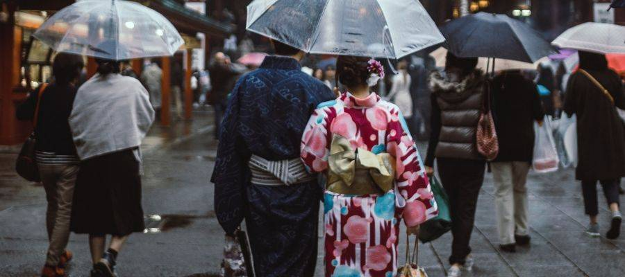Traditional Japanese Kimono Outfit - Couple Wearing Kimono